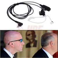 radio earpiece - Piece New Pin Headset Mic Covert Acoustic Tube Earpiece for Motorola Radio Security