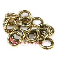 Wholesale 100PCS New Fashion DIY Jewelry Pendant Scarf Findings Retro Golden Plated Charm Plastic CCB Circle Rings AC0031C
