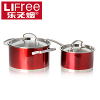 Wholesale Le smoking Chinese Dream soup milk pot set stainless steel cookware combination of small earthen pot milk pot