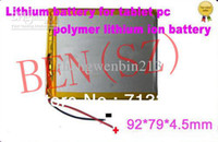 Wholesale V mAH Li ion Polymer lithiumion battery for or inch tablet PC ICOO D70pro II Onda Sanei mm