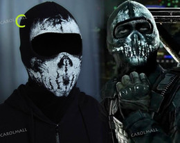 Wholesale New Arrival Hot Sale CALL OF DUTY X GHOST Ghosts MASK SKULL Costume Accessories Balaclava Mask Cosplay Freeshipping from CAROLMALL