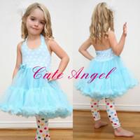 TuTu Summer Pleated Children's Girls Sling veil TUTU dress Baby vest Dresses Girls tutu dress