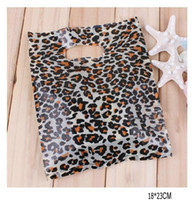 Leopard sacchetto di stampa di plastica del regalo, Jewerly, borsa merci 18 * 23cm