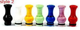 Newest 510 Drip Tips EGO Ceramic Drip Tips Mouthpiece for 510 Threading Electronic Cigarette EGO Ceramic Drip Tips with T2 tank vivi nova