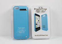 Wholesale NEW in External Battery case For Iphone c s Portable Power bank mAh external backup battery charger case with package