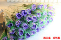 Wholesale Romantic Valentine s Day gift Rose flower Cake Towel cm Square Towel cotton Towel Wedding Birthday Favors