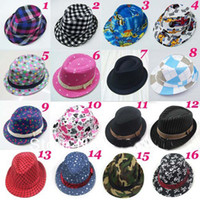 fedora - Mixed style Fashion children hat Dicers Baby fedora hats Cowboy hat Kids fedoras