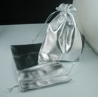 Wholesale Hot Silver Plated Gauze Jewelry Bags Jewelry Gift Pouch Bags For Wedding favors With Drawstring x9cm x12cm x16cm b52