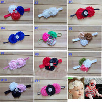 Cotton shabby chic flowers - 2013 Baby Headband Infant girls Flower Headbands Shabby chiffon flower Newborn toddler shabby chic roses headband