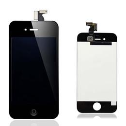20PCS / LOT LCD para el iPhone 4 4G / 4S libera la nave de Fedex DHL con la pantalla táctil Montaje completo de la asamblea Color blanco y negro desde iphone 4s conjunto completo fabricantes