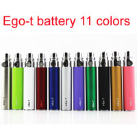Оптовая 650 900 1100mAh EGO-T батарея эга электронная сигарета красочная батарея для эго T эго C эго K CE4 CE5 электронной сигареты CIG батарей Красочные электронные