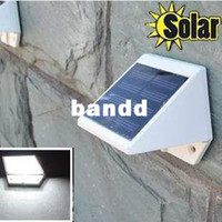 Wholesale Outdoor Solar Powered LED Lights Pathway Up Stair Wall Mounted Garden Fence Yard Lamp