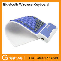 Folding Bluetooth Wireless Yes Portable Universal Bluetooth Wireless Keyboard for Tablet PC iPad Waterproof Dustproof Flexible Soft Silicone Foldable Retail Package 10pcs