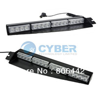 Wholesale Split Visor Dash LED Emergency Warning Strobe Light Mount Deck LED Lamp Bar White