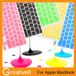 Wholesale Laptop Soft Silicone Colorful KeyBoard Case Protector Cover Skin For MacBook Pro Air Retina Waterproof Dustproof retail box