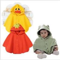 Wholesale Baby Boy Girl Toddler Frog Duck Hoodie Cloak Poncho Cape Mantle Cloak Hoodies Jacket Coat Clothes