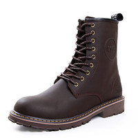New 2013 brand Retro Fashion Mens Genuine Leather boots ridi...