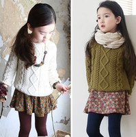 Wholesale Children s Sweaters winter new girls sweater coat thick section of cannabis Children s Clothings