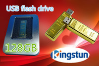 Wholesale GB Flash disk Fashion Gold bar USB U disk plug and play Flash Memory USB flash driver High Quality FREE DHL EMS