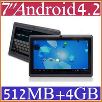 Wholesale 7 quot inch Capacitive Allwinner A13 Android Tablet PC GB MB WiFi EPAD Youtube Facebook PB7