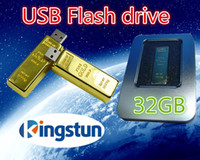 Wholesale GB Flash disk Fashion Gold bar USB U disk plug and play Flash Memory USB flash driver High Quality FREE DHL EMS Place an o