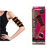 One Size   New Upper Arm Shape Belt Control Fat Buster Calorie Off Massage Slimming hand Arms Shaper black beige 100pair lot