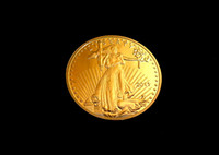 Wholesale Statue of liberty oz pure Gold Metal Plated Collectible Souvenir coin commemorative plaque festschrift monnaie US