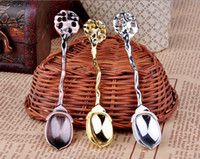 Wholesale 10 off Europe and the United States court wind restoring ancient ways is the gold and silver coffee spoon sauce ice cream spoons