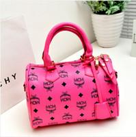 Wholesale HOT Colors Women MCM Fashion Bags Totes Office Lady Designer Handbag Pink Girls Leather Shoulder Bag Female Shopping Messenger Bag Wallet