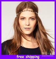 Wholesale Disc Crown Headband Hair Ornament European Style Metal Chain Hair Bands Headband
