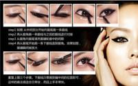 Waterproof cream eye liner - High Quality SUPERIA Black Brown Two color Eyeliner Waterproof Eye Liner Eyeliner Gel Makeup Cosmetic Brush