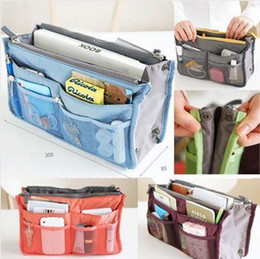 2016 Newest Christmas Women Lady Travel makeup bag Insert Handbag Purse Large liner Tote Organizer Dual Storage Amazing make up bags