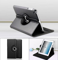 Wholesale 120pcs degree rotating leather case screen protector stylus pen for Ipad mini Ipad Air