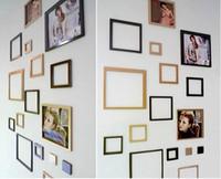 achat en gros de photo acrylique cadres mur-Autocollant acrylique de photo de mur de photo d'expédition libre, cadre de combinaison d'image de mur 3D, 8pcs par ensemble