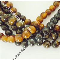 Wholesale Gemstone Beads Strands Tiger Eye Natural Mixed Color Size about mm in diameter hole mm quot strand