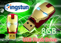 Wholesale GB Avengers Iron Man Cartoon USB Flash Memory Thumb Pen Drive Drives Stick Sticks Disks Discs Pendrives Thumbdrive