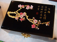 Wholesale Chinese traditional lacquer jewelry box jewelry case for Plum blossom