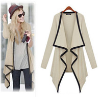 Wholesale 4 Colors Knitted Long Cardigan Women Fashion New Leisure Irregular Collar Sleeve Sweater Women knitwear