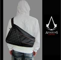 american mile - Assassins Creed III Desmond Miles PU handbag shoulder bag sports bag Assassins creed cosplay gift