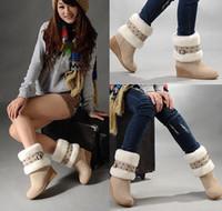 Wholesale New Colors Fashion Women Dual purpose boots Winter Warm Snow Boots US6