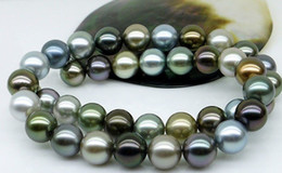 Wholesale Best Buy pearl jewelry stunning mm tahitian multicolor pearl necklace inch k
