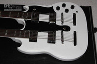Solid Body 6 Strings Mahogany Wholesale - - New-right handed 2013 Double-Neck Electric Guitar white #117