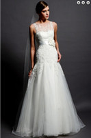 Cheap A-Line wedding dress Best Reference Images High Collar bridal dress