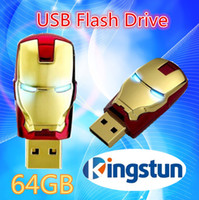 Wholesale Flawless Avengers Iron Man LED Flash GB USB Flash Memory Drive Stick Pen ThumbCar usb flash drive