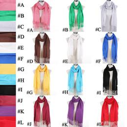 12PCS LOT Hot Fashion 100% Cashmere Pashmina Fringe Soft Solid Scarf New Style Women Tassel Scarf Shawl, Fedex Free Shipping, SC0024