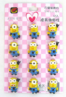 Wholesale 120 X Yellow Despicable Me D Resin brooch ornament Button Pin Christmas party favor gift