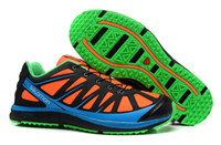 Wholesale 2013 New Salomon Kalalau M Mountain Universal Running Shoes Orange Light Blue Mens Urban Adventures Shoes Lighweight Breathable Sneakers