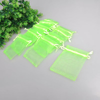 Green apple favor - x12cm Apple green Sheer Organza Wedding Favour Gift Bag Jewelry Gift Pouch Bags