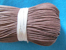 1.5mm Brown Black Waxed Cotton Cord   Rope   String,for Necklace and Bracelet,Jewelry Making DIY Cord,