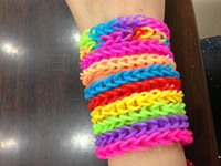 Cheap New Rainbow loom DIY Loom Rubber Bands Bracelet 10pcs mix colors Free shipping